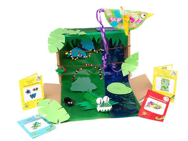Learn about the rainforest with these kids crafts