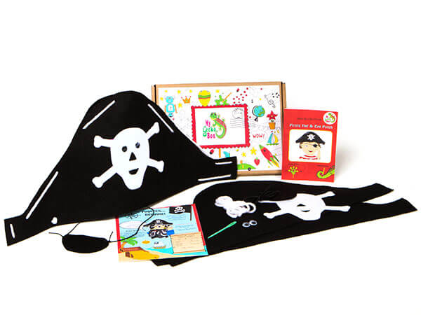 MyGeckoBox - Pirate Hat and Eye Patch Craft
