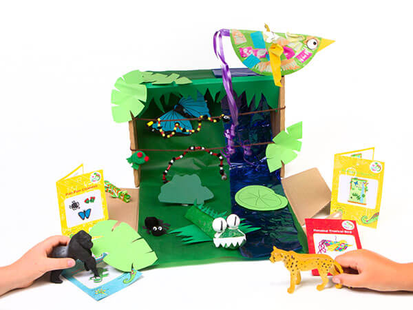 Recycle your box and create this diorama
