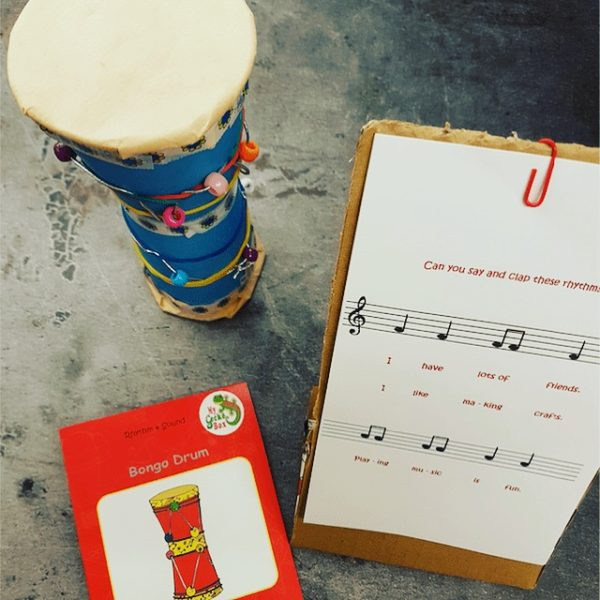 making a bongo drum for kids