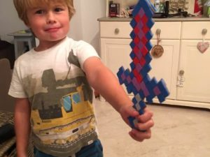 Mosaic sword craft for kids